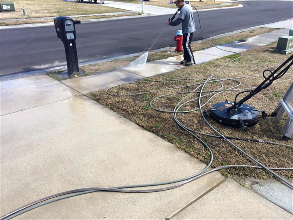 Pressure Washing Sidewalk