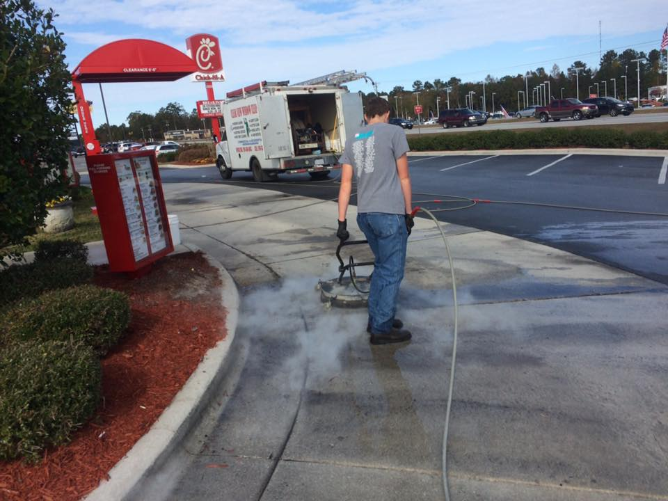 Commercial Power Washing at Chick Fil A